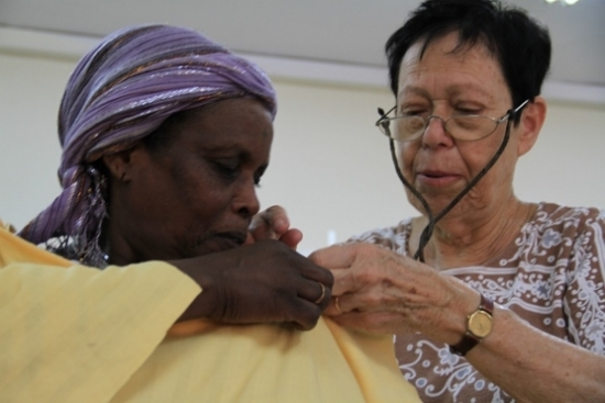 Chatter and satisfaction at the Netanya Sewing Centers